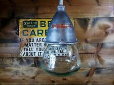 Vintage Crouse Hinds Explosion Proof Industrial Pendant Light Green Shade Gas #2