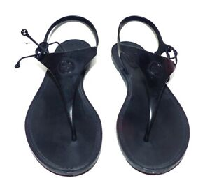 GUCCI KATINA Women's Black Compostable Bioplastic Sandal EU 38 G