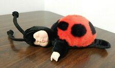 """New ListingAnne Geddes Baby Ladybug 1999 9"""" Sleeping Bean Bag Plush Doll by Unimax"""