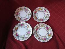 4 hammersley chintz handpainted 1920s plates