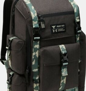 Under Armour x Project Rock UA Regiment Backpack Sport Gray Camo Brand New