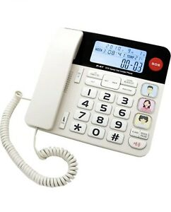 Corded Home Phone with Big Buttons/Caller ID/ SOS Speed dial Phone/ 40dB