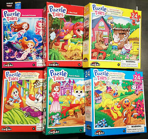 BRAND NEW Lot of 6 boxes Puzzlebug 24 Pieces Jigsaw Puzzle 5+ Kids 22x28cm Each