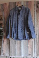 // Calypso The Editor Men's Shirt Button Front Polka Dot 100% Cotton Size 41