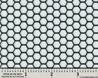 Ccg Universal 16 X 48 Perf Hexagon Aluminum Grill Mesh Sheet Black Powder Coat