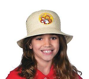 1 x Straw Pith Hat Safari Child Boater Cap Cowboy Cowgirl Jungle Animal Costume