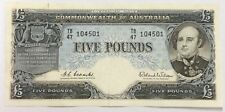 1960 five pound Coombs/Wilson R50 TB47 104501 VF