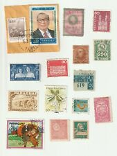 World Mix Selection of 15 Used and Mint Stamps