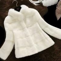 New Mink Fur Coat Fashion Winter Women Short Jacket Parka Party Chic Outwear New