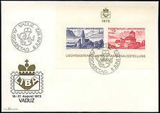 Liechtenstein 1972 Liba Stamp Exhibition M/S FDC First Day Cover #C16589