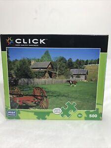 """Mega Puzzles Click Puzzle """"Pioneer Cabin"""" 500 Piece 20508ADN"""