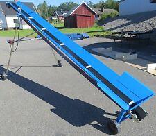 Förderband Gurtförderer f. Scheitholz Brennholz 5m robust 10cm Gummigurt fahrbar