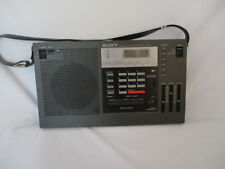 SONY FM/AM Multi Band Synthesized Receiver ICF-2001 Radio Tested Working!