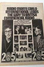 RADIO MONTE CARLO 1971 UK Poster size Press ADVERT 16x12 inches Mungo Cash Vance