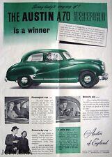 Austin A70 'HEREFORD' 1952 Car ADVERT #1 - Original Magazine Print AD