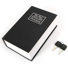 Hot Dictionary Book Cash Money Jewelry Safe Storage Box Security Key Lock Black