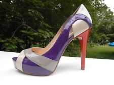 New Authentic Display Guess Pumps By Marciano Vicki- Multi Color Patent  Size 10