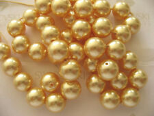 25 Gold Swarovski Crystal Beads Pearls 5810 8mm
