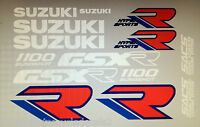 SUZUKI GSXR1100 GSXR1100K RESTORATION DECAL SET 1988-89