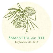 36 Evergreen Large Stickers Wedding Favor Seals