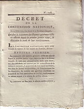 DECRET DE LA CONVENTION NATIONALE DU 23 JUILLET 1793 - QUI FIXE LE TRAITEMENT DE