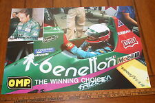 BENETTON WORLD CHAMPIONSHIP F1 TEAM POSTER TEO FABI 26 X 20 FULL COLOR