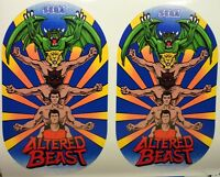 Altered Beast Arcade Game Side art decal set