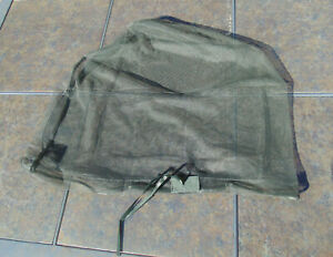 "German military full head mosquito net 20"" x 17"", new old stock, free shipping"