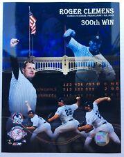 "Roger Clemens 300th Win Glossy 8 X 10"" Photo New York Yankees June 13 2003 DM1"