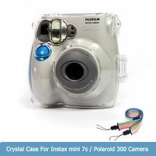 For Fujifilm Instax Mini 7s Film Camera Transparent Bag Case Cover Shell w/Strap