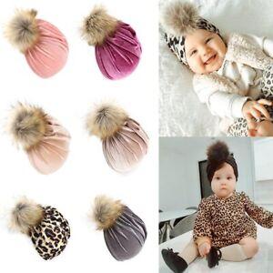 Winter Baby Hat Pom Pom Infant Beanie Hat for Boys Girls Kids Bonnet Turban Cap