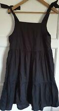 Monki Black Strappy Smock Dress- Size XXS