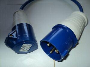 32 AMP 3 PIN PLUG to 16AMP 3 PIN SOCKET 240V  Converter Cable