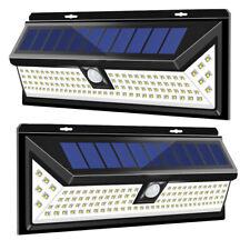 2Packs Upgraded 118LED Motion Sensor Solar Wall Light IP65 w/3 Lighting Modes