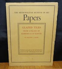 GLAZED TILES FROM A PALACE OF RAMESSES II AT KANTIR William Hayes 1st  Ed 1937