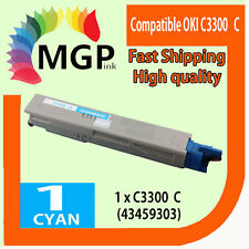 1x Cyan Compatible Toner Cartridge for OKI C3300 3300 C3400 3400 C3300N Printer