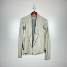 All Saints Women's Nanaea Layered Cropped Cardigan in Gray/Ivory Size 8 *READ*
