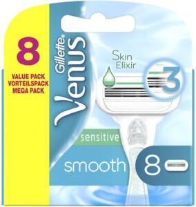 Gillette Venus Smooth Sensitive 8 Rasierklingen mit Feuchtigkeitsstreifen