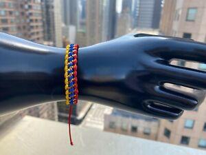 Colombia Handmade Adjustable Bracelet - Colombia Flag Colors
