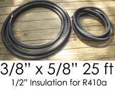 "25 Ft. Ductless Mini Split Air Conditioner Line Set 3/8"" x 5/8"" 1/2"" Insulation"