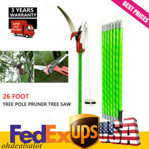 Pole Saw Extendable Tree Limb Branch Cutter 26 Ft Pruner Trimmer Tool US Stock