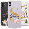 PERSONALISED FLORAL INITIALS NAME CASE PHONE COVER FOR APPLE IPHONE 11 7 8 XR