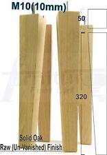4x Alto Legno Gambe Rovere Naturale Mobile in legno gambe per DIVANO, sedie, sgabelli M10