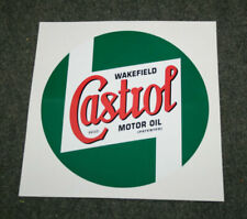 Wakefield Castrol self-adhesive vinyl decal for hi-boy oil pump