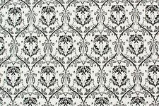 Raso di cotone bianco grigio barocco STOFFA AL METRO TESSUTO A METRAGGIO