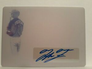 2019 Leaf Trinity Tyler Freeman Printing Plate Patch  Auto 1/1 Indians