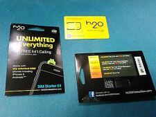 New H2O H20 Wireless Standard Sim Card Gsm Starter Kit