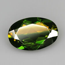 8.7Ct Man Made Bi Color Glass Yellow Green Oval Cut MQYG11