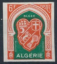 [H20899] Algeria 1958 EMBLEM Good IMPERFORATED stamp very fine MNH VALUE 86$
