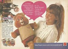 X0569 Teddy Ruxpin - Mattel - Pubblicità del 1986 - Vintage advertising